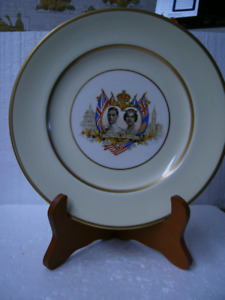 Vintage King George VI and Queen Elizabeth Decorative Plate 1939