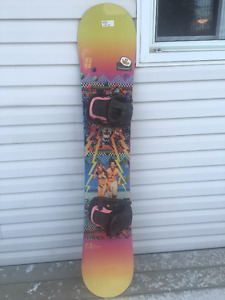 Womens burton boots, BRAND NEW Forum snowboard, & Flow bindings