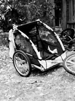 Baby stroller trailer chariot style