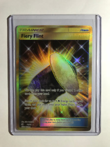 Pokemon Dragon Majesty Fiery Flint Gold Secret Rare 76/70 NM