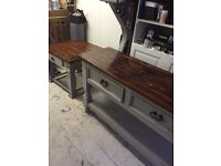 Sideboard / console table & matching coffee table