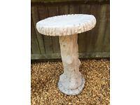 Concrete garden birdbath/table