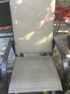 Two chairs that slide