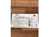 David Gilmour ticket 30.9.16