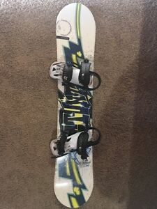Firefly Snowboard, 52.5 In. Boots, Helmet, and Case.