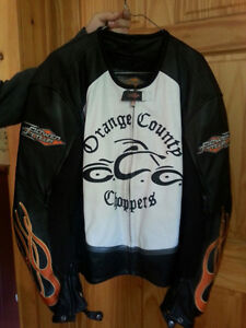 Leather Jacket Must see ! Authentic Orange County Choppers