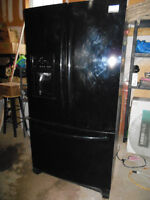 Frigidaire French Door with Bottom Freezer and Water/Ice -BLACK