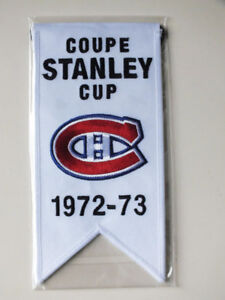 CENTENNIAL STANLEY CUP 1972-73 BANNER MONTREAL CANADIENS HABS