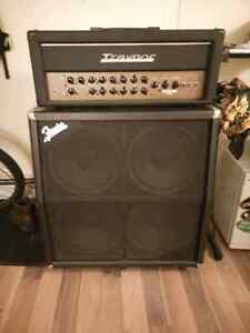 Traynor head and Fender cab half stack