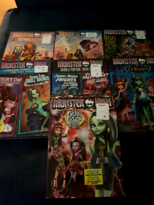 Barbie and monster high dvds
