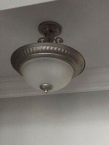 Semi-flush Ceiling Lights - $65 each