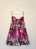Strapless funky summer dress, new, pockets, H&M, US 6