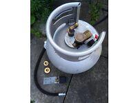 Motorhome 11kg LPG Refillable Aluminium Tank Kit.