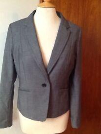💛❤️ H&M smart black jacket size 14 pristine