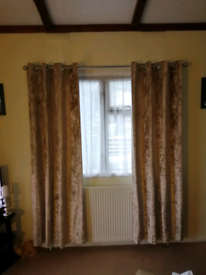 Velour lined curtains