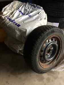 195/60R15 winter tires and rims Kitchener / Waterloo Kitchener Area image 1