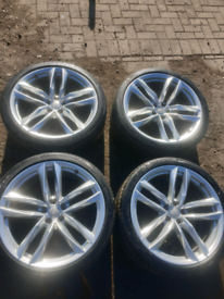 """21"""" audi alloy wheels with tyres"""