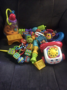 Baby toys mostly for infant up to 6 months