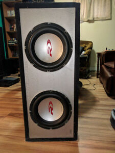 Selling Kenwood amp and two 10 inch alpine subs with the box.