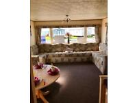 Spacious 6 berth static caravan on the Ayrshire coast at Sandylands, Scotland