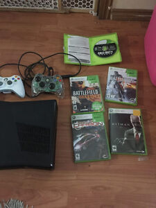 Xbox 360 slim 320gb hdd - 2 control - games - 20 inch flat  tv