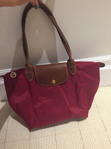 Red longchamp small tote - perfect condition