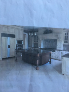 Solid Wood Kitchen Island Cabinets Granite Countertop Included!