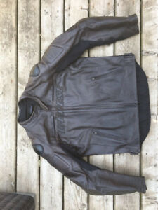 Dainese speed naked, brown perforated leather jacket. 54 - mint
