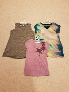Casual maternity tops clothing lot - size Large, 10 items