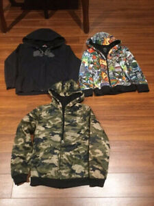 THREE BOYS JACKETS WITH HOODS.  $20.00 EACH