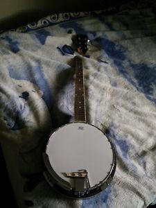 Banjo with broken head