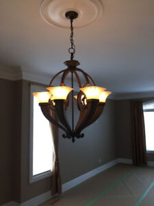 Sophisticated Classic Rod Iron Chandelier
