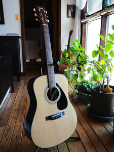 New Yamaha F325D Guitar with Case