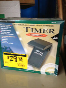 All Weather Heavy Duty Outdoor Grounded Timer