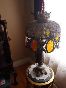 Éclairage lumière fixture électrique lampe sur pied antique