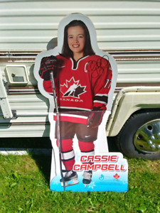 Cassie Campbell Cardboard Stand Up