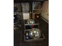 Flight case and nice disco ball (2 halfs)
