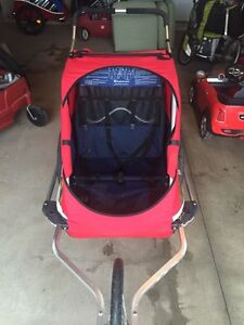 2 seater charriot cougar bike stroller and trailer