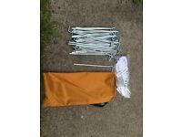 40 Tent Pegs New Galvanised Tent Awning Pegs