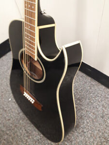 Vantage VS40CEB - Black Acoustic Electric Guitar
