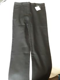 Black school trousers new