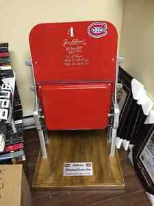 Montreal Canadiens Forum seat autographed by Jean Beliveau
