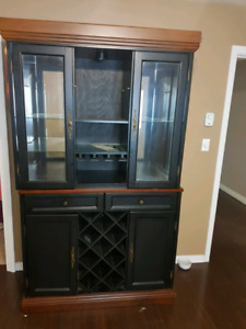 Beautiful black and brown showcase need gone