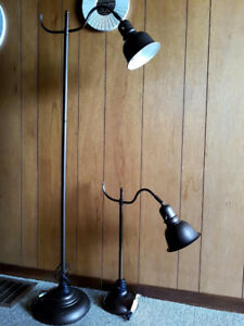 Big and small goose-neck lamps