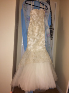 WEDDING/WHITE PROM DRESS FOR SALE
