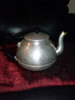 Stamped silver antique teapot