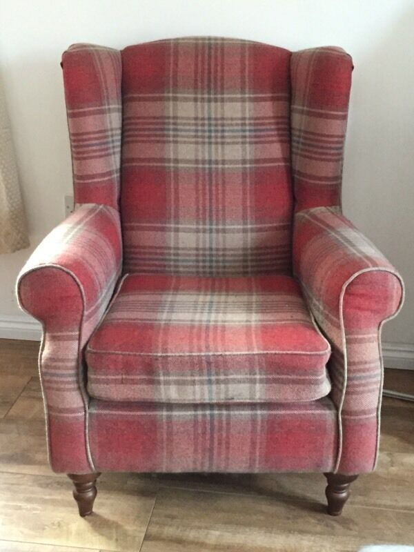 Pair of Next Sherlock Chairs in Stirling Red Fabric | in ...