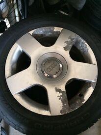 "Audi 16"" 5 spoke alloy wheels 5x112"