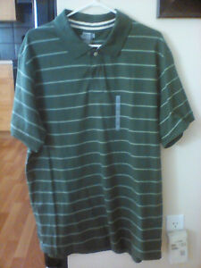 Old Navy Striped Green Polo Shirt