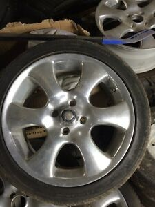 5 matching Polished Aluminum Rims 4x100 TRADE FOR 5x100 or sell